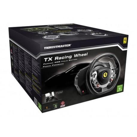 Kierownica THRUSTMASTER 4460104 ( PC Xbox One - D-Pad Force Feedback podstawa z pedałami łopatki do zmiany biegów )