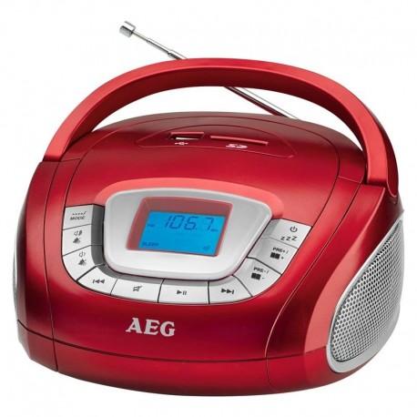 Radioodtwarzacz przenośny AEG SR 4373 czerwono-szary