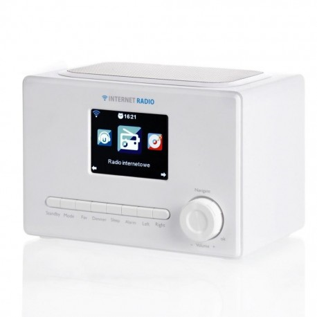 "Radio internetowe ART X102 LCD kolor 3,2"" biały"